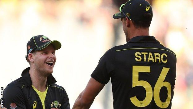 Steve Smith and Mitchell Starc