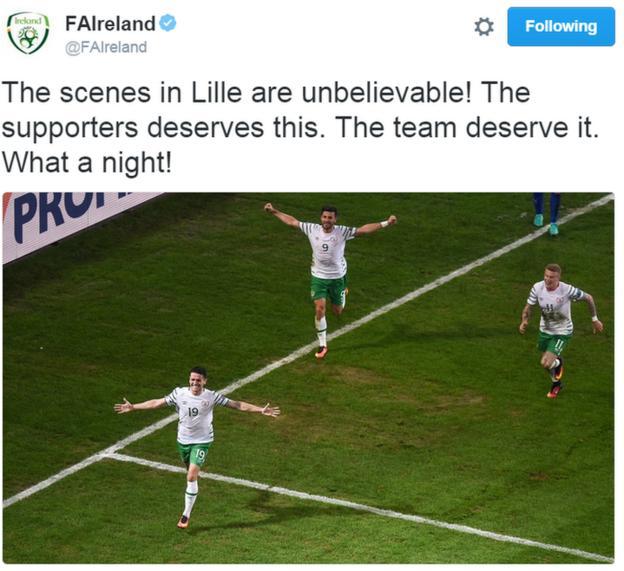 Ireland tweet