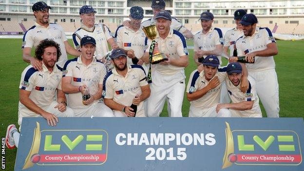Yorkshire county champions
