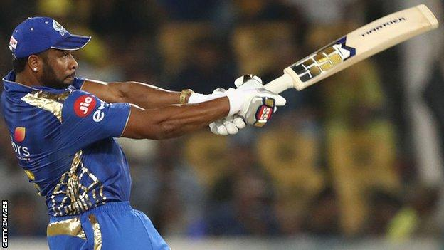Kieron Pollard of the Mumbai Indians