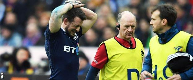 Greig Laidlaw has been ruled out of the rest of the Six Nations campaign