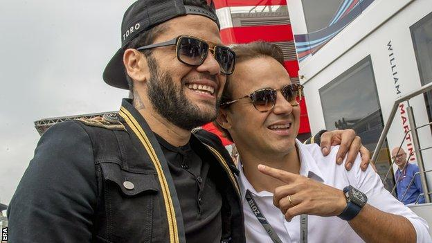 Dani Alves and Felipe Massa
