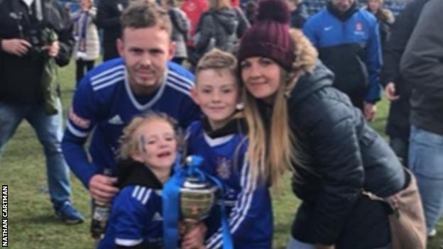 Nathan Cartman with wife, Vicki, and two children Millie and Alfie