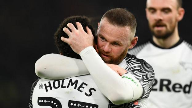 Derby County 4-2 Northampton: Wayne Rooney to face former side Manchester United after Rams win thumbnail