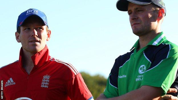 Eoin Morgan and William Porterfield
