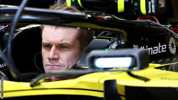 Nico Hulkenberg in his Renault F1 car