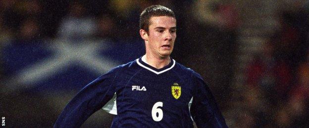 Scotland midfielder Barry Ferguson