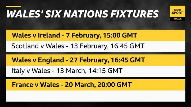 Wales' 2021 6N fixtures