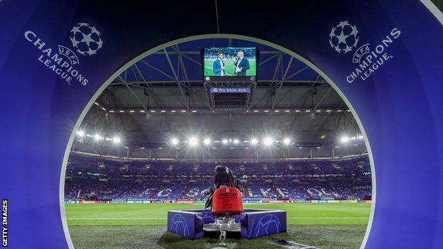 Şampiyonlar Ligi maçından önce Schalke sahası