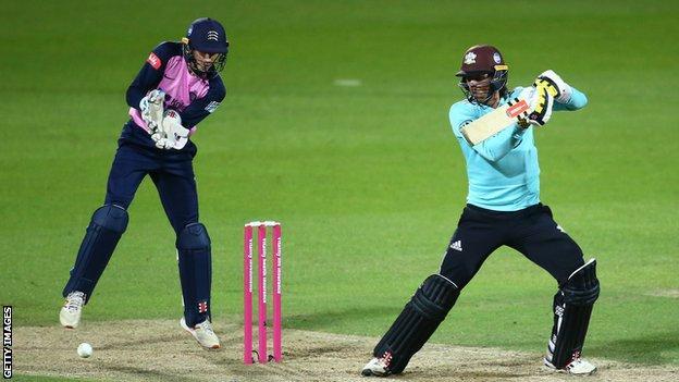 Ben Foakes batting for Surrey