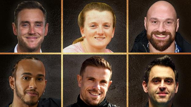 The contenders for BBC Sports Personality of the Year: Stuart Broad, Hollie Doyle, Tyson Fury, Lewis Hamilton, Jordan Henderson, Ronnie O'Sullivan