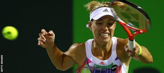 Kerber won the Australian Open in January