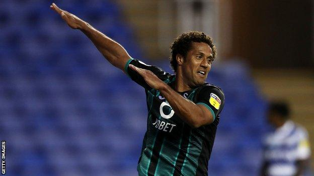 Veteran forward Wayne Routledge scored twice at Reading to take his tally for the season to five