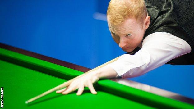 Anthony McGill lines up a shot