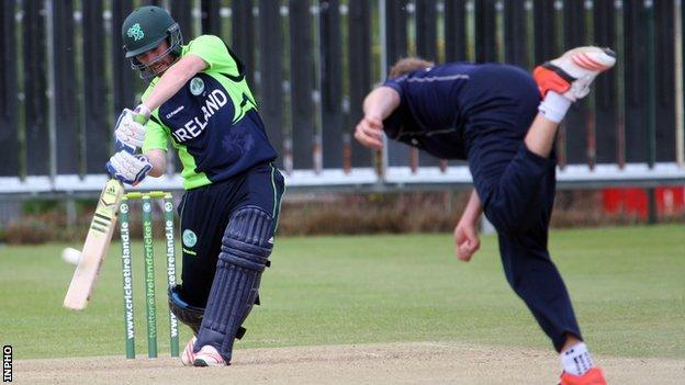 Andrew Balbirnie in action for Ireland against Scotland in 2015
