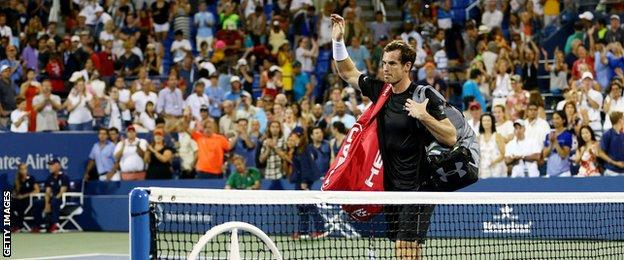 Andy Murray at the 2015 US open