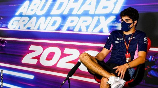 Lance Stroll before the season-ending Abu Dhabi GP
