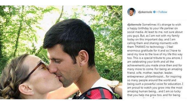 Novak Djokovic/Instagram