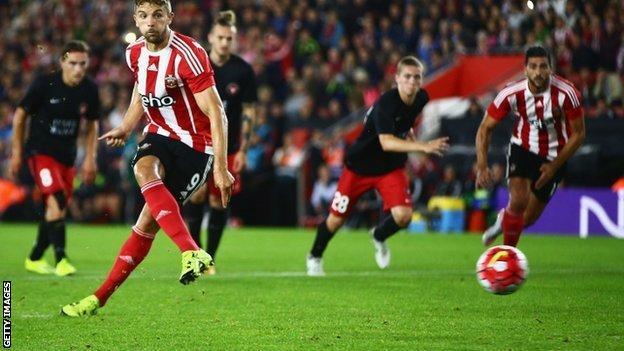 Jay Rodriguez equalises for Southampton