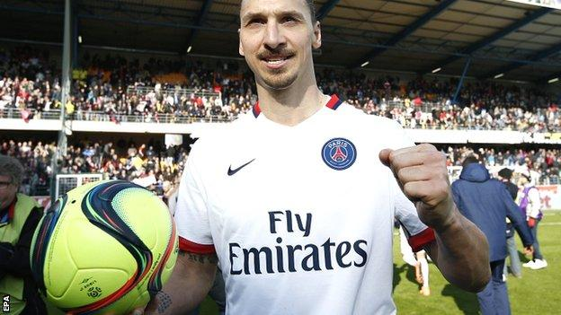 Zlatan Ibrahimovic of Paris Saint Germain