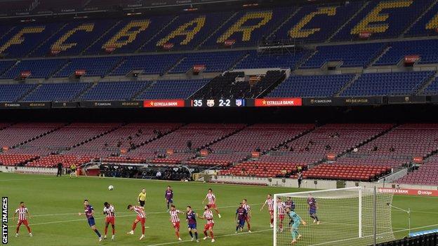 Barcelona v Atletico Madrid behind closed doors