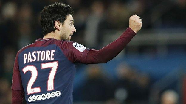 Paris St-Germain midfielder Javier Pastore