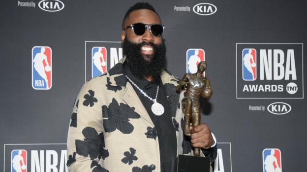 James Harden: Houston Rockets guard named Most Valuable Player at NBA Awards - B...