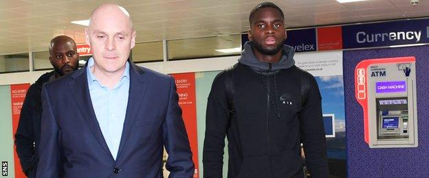 Odsonne Edouard lands in Glasgow