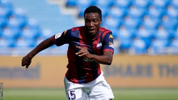 Ghanaian Sabit Abdulai in action for Spanish club Extremadura