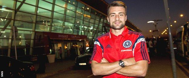 Russell Martin in Tbilisi