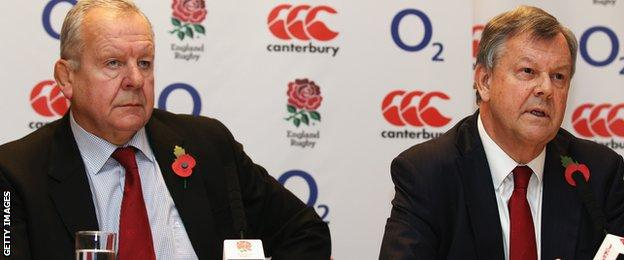 Bill Beaumont (left) and Ian Ritchie