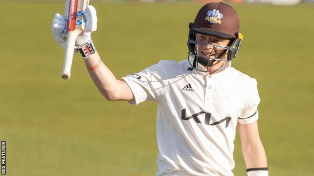 Surrey and England batsman Ollie Pope's 245 was his highest score in the County Championship - and just six short of his career-best