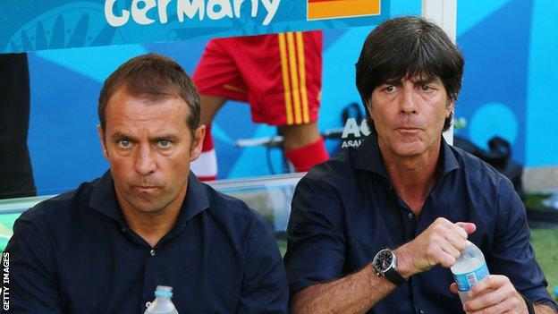 Hansi Flick (left) and Joachim Low