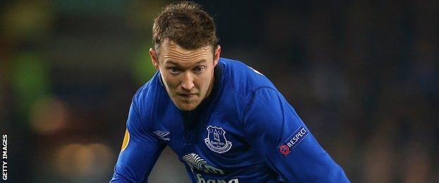 Everton winger Aiden McGeady