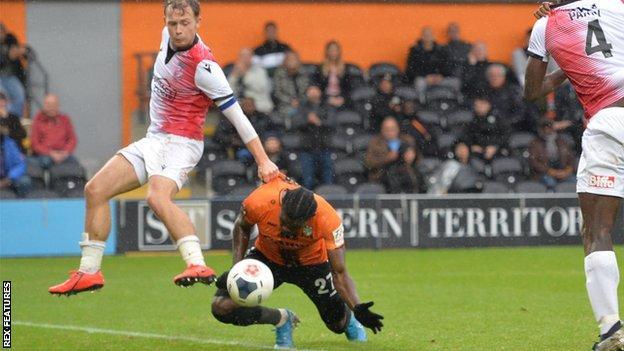 Barnet's Ephron Mason-Clark scores against Woking