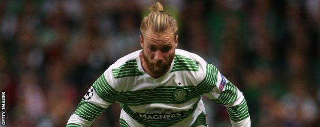 Jo Inge Berget in action for Celtic