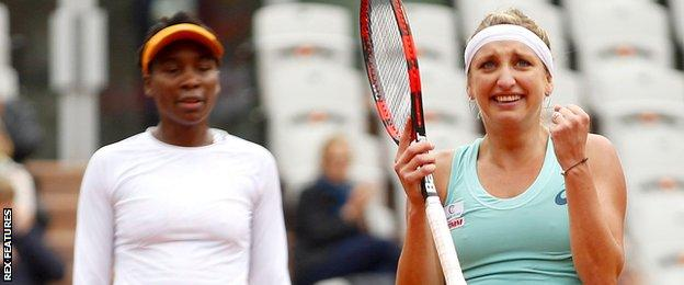 Venus Williams and Timea Bacsinszky