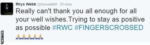 Rhys Webb tweet
