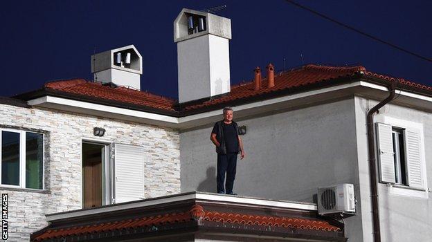 Fan on a roof
