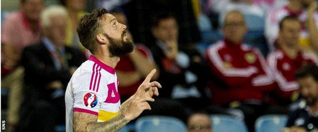 Steven Fletcher scored his second hat-trick against Gibraltar in the campaign