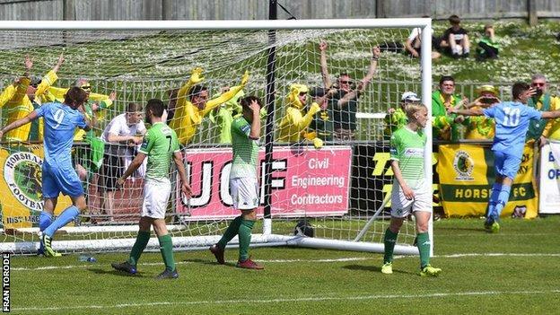 Guernsey FC concede a goal