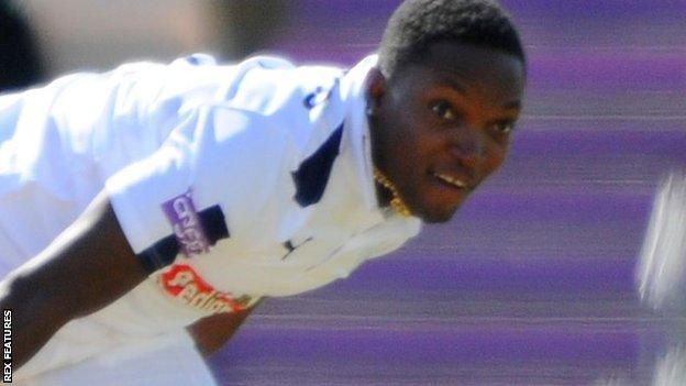 Hampshire fast bowler Fidel Edwards