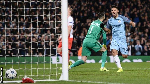 Sergio Aguero ended a run of seven games without a goal with his brace