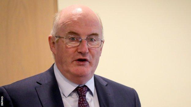 John Horan handed over the GAA presidency to New York-based Corkman Larry McCarthy on Saturday