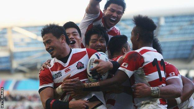 Japan stunned South Africa on Saturday