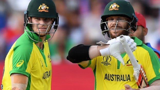 Australia's Steve Smith and David Warner