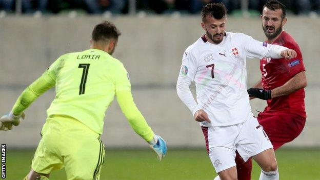 Swizterland striker Albian Ajeti has scored one goal in 10 caps