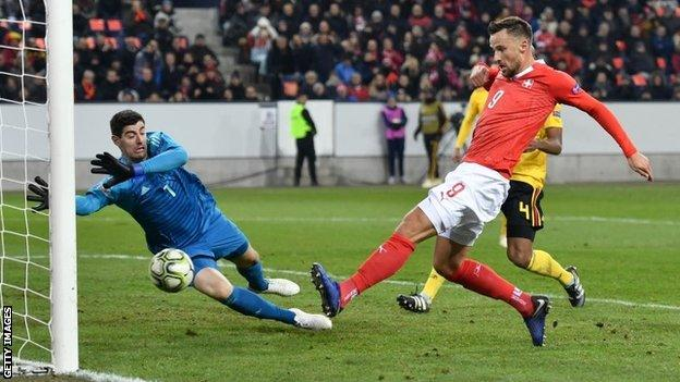 UEFA Nations League 2018 Report: Switzerland 5 Belgium 2 - Switzerland come back to stun Belgium and reach Nations League semis