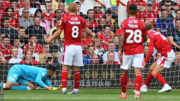 West Brom equalise against Nottingham Forest