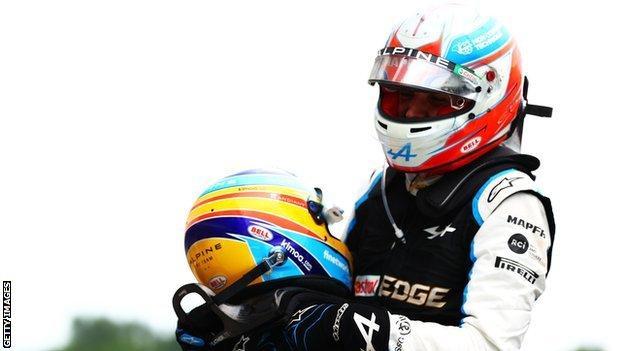 Fernando Alonso and Esteban Ocon